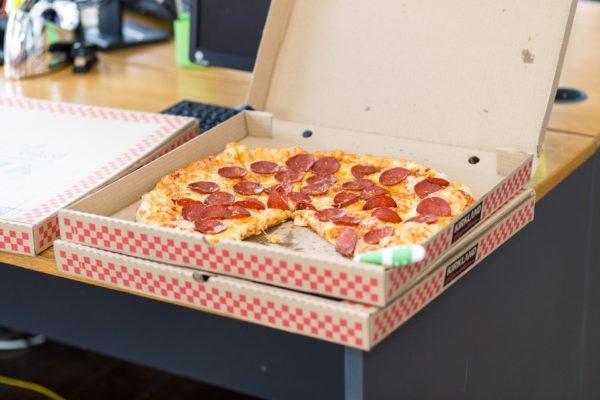 Pizza vom Lieferdienst