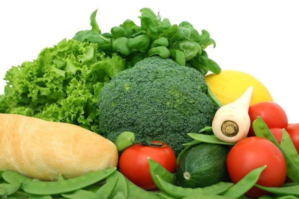 Frisches Gemüse im Liferdienst